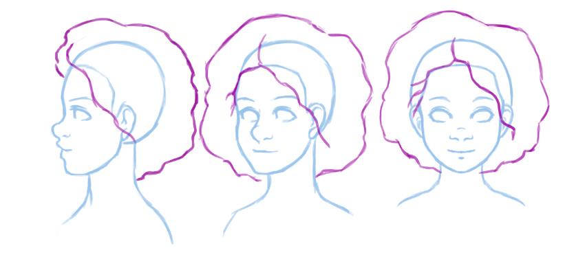 Turn around of basic hair style