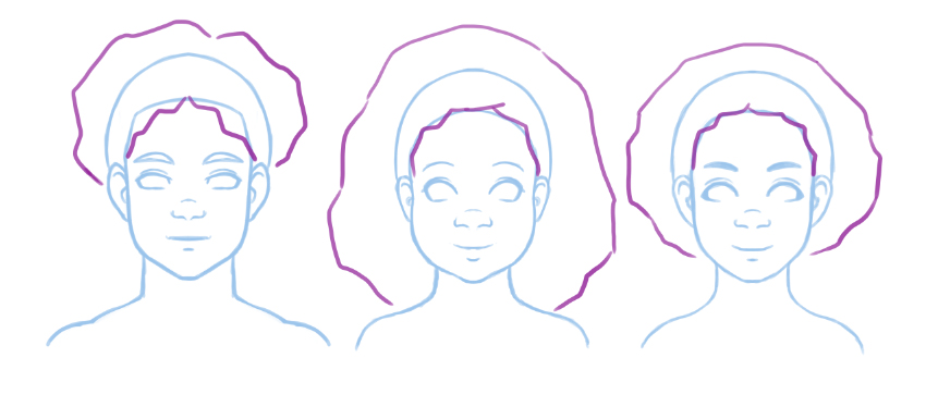 Basic block out of 4A hair