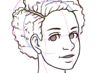 How To Draw Natural Textured Afro Hair How To Draw Curly Hair
