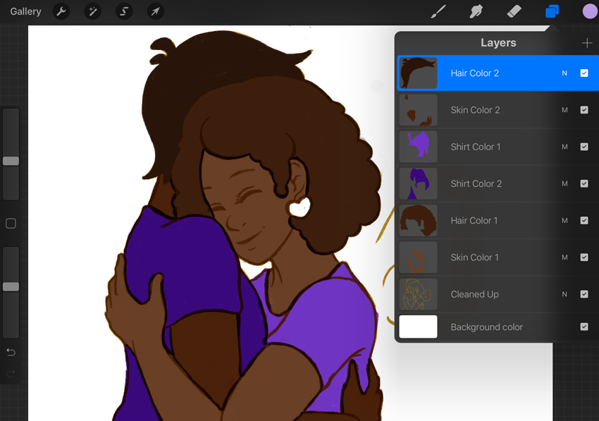 Adding Color on Independent Layers