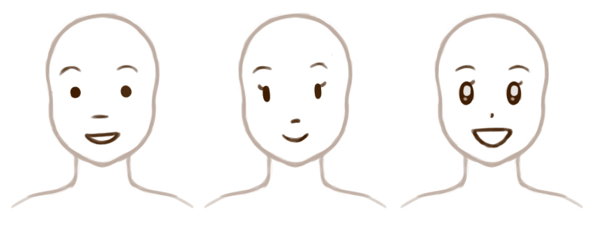 Examples of highly simplified noses