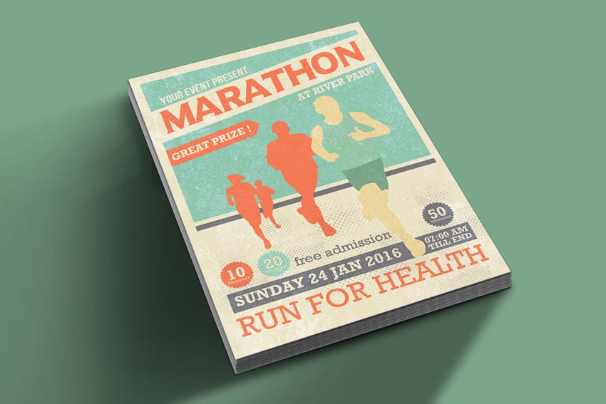 Marathon Event Flyer Template