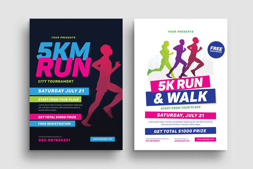 5k Run Event Flyer