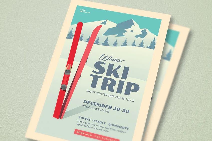 Ski Trip Event Flyer
