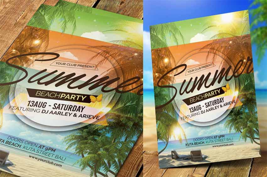 Summer Event Flyer Invitation
