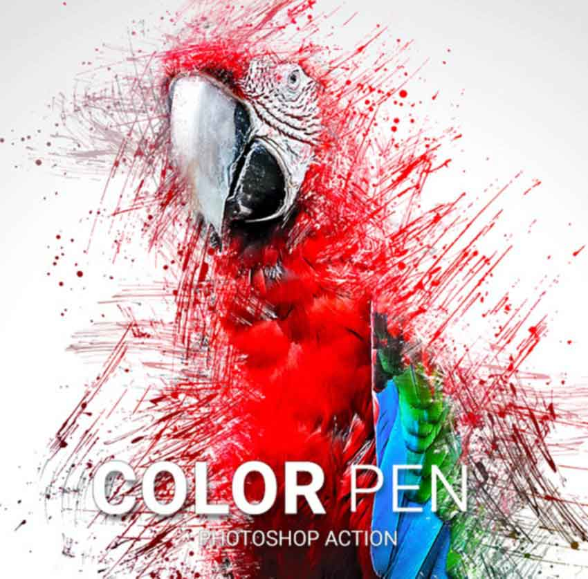 Color Pen Photoshop Action