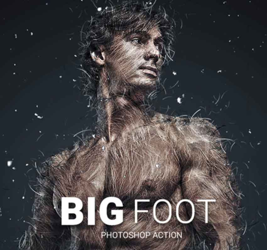 Big Foot Photoshop Action