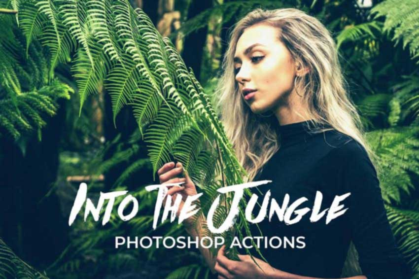 Into the Jungle Photoshop Actions