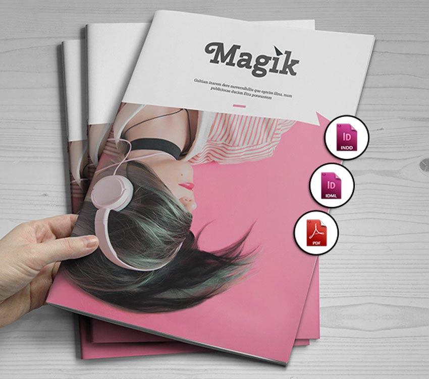 Pastel Magazine Template