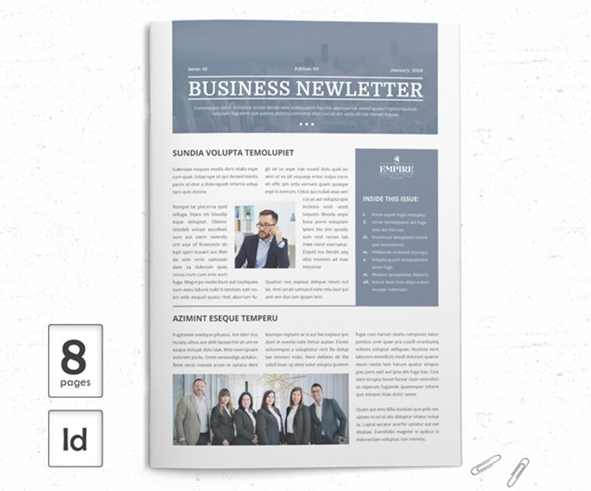 InDesign Newsletter Template