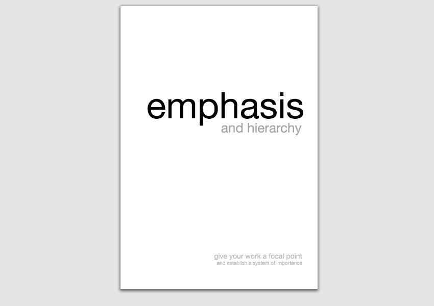 Emphasis and Hierarchy Example
