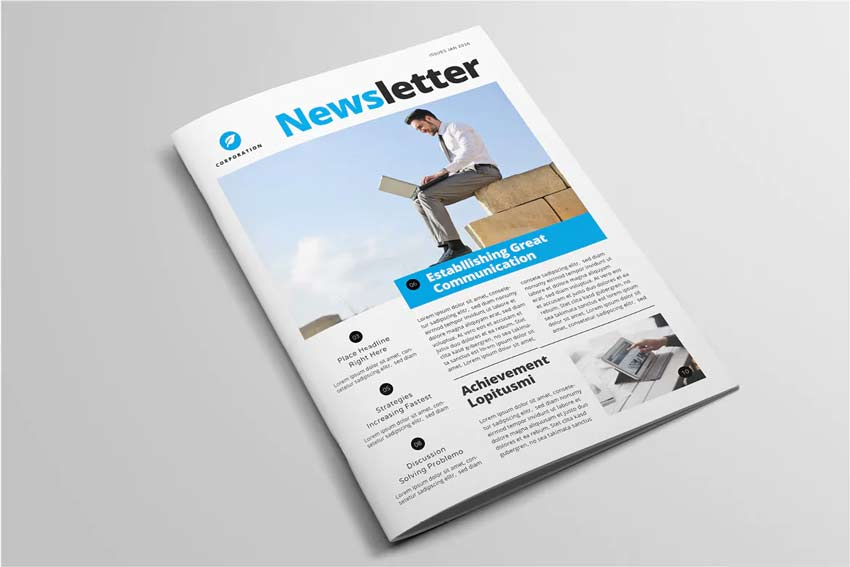 Corporate Newsletter Template InDesign