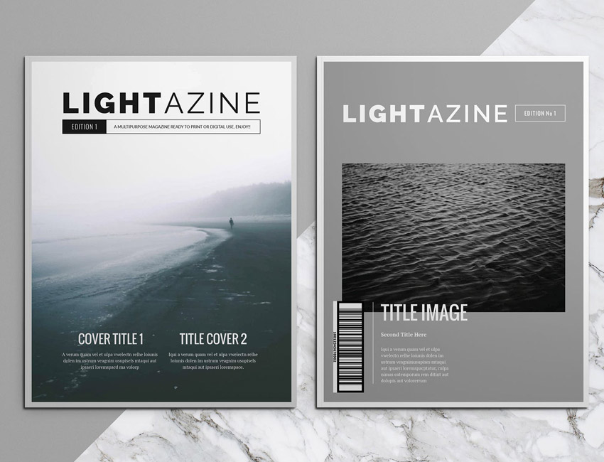 Lightazine InDesign Template