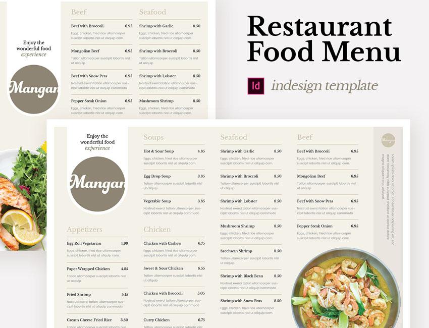 Restaurant Food Menu Template