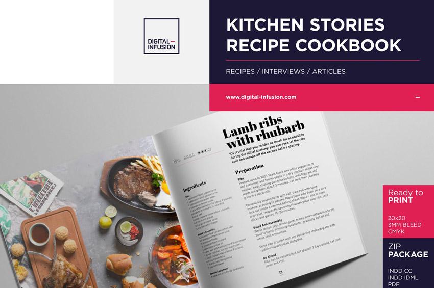 KITCHEN STORIES - Recipe Cookbook InDesign Template