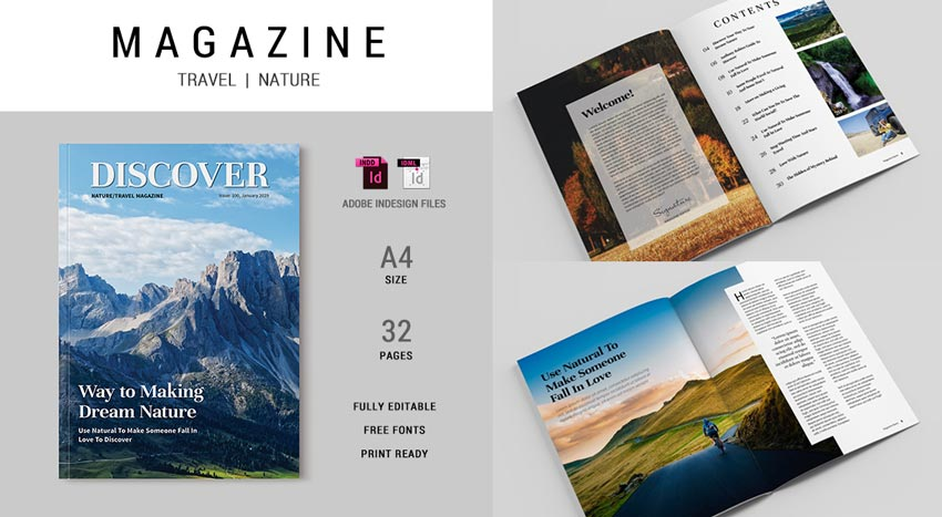 Travel and Nature Magazine Template
