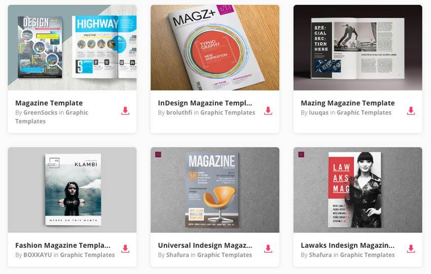 Magazine Templates and magazine page layout on Envato Elements