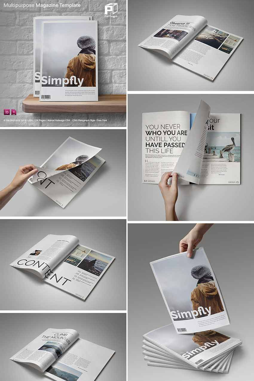 Simple Clean Magazine Layouts INDD