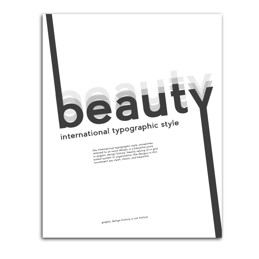 International Typographic Style Sample