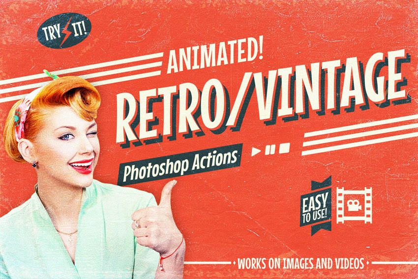 Vintage Photoshop Actions