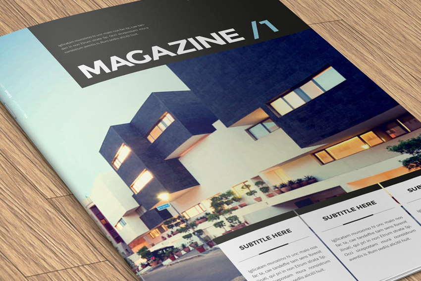 InDesign Architecture Magazine Template