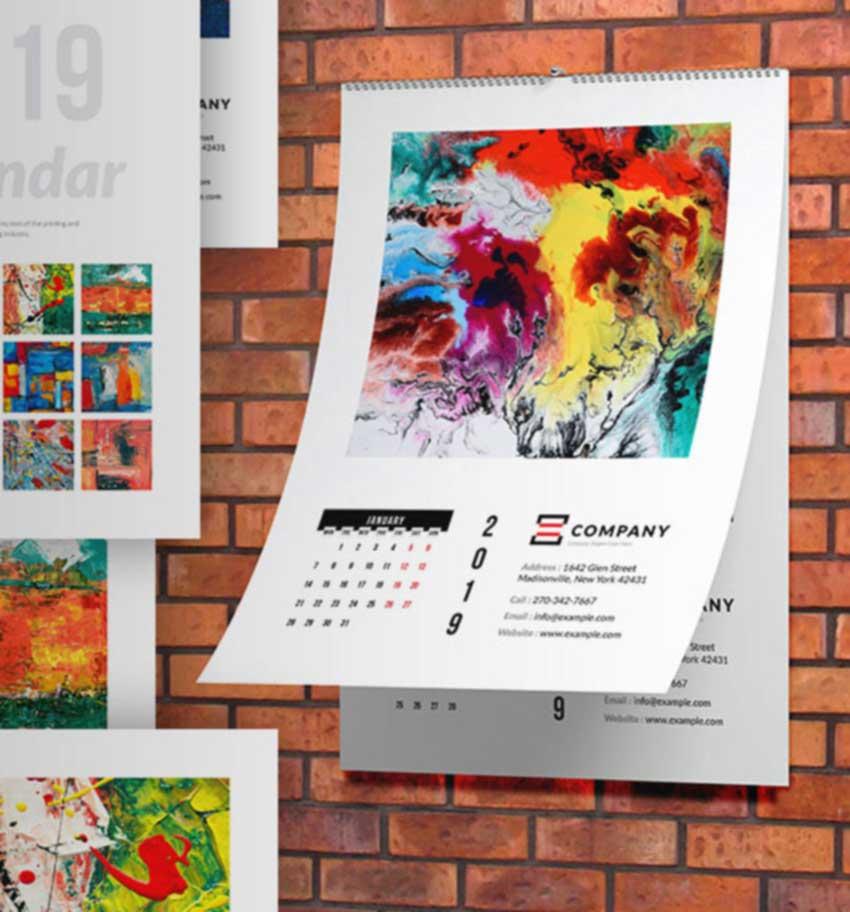 Wall Tabloid Calendar 2020