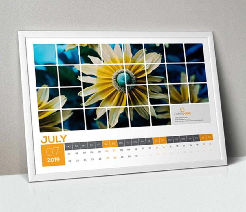 Landscape Calendar InDesign