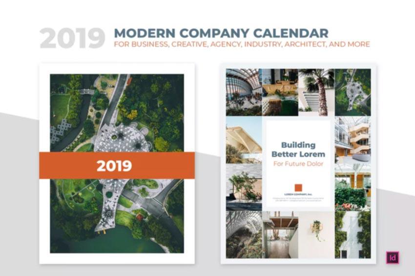 Minimal Calendar InDesign Template