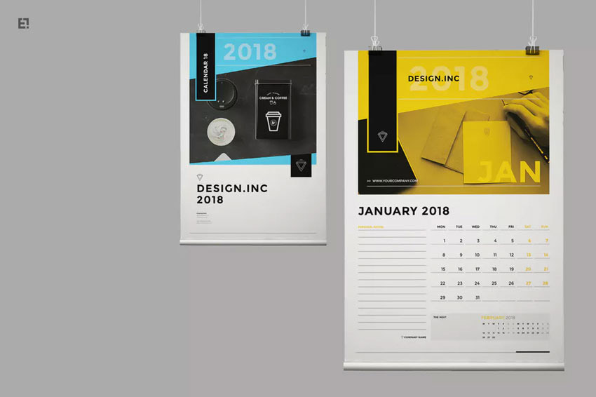 Calendar Template InDesign
