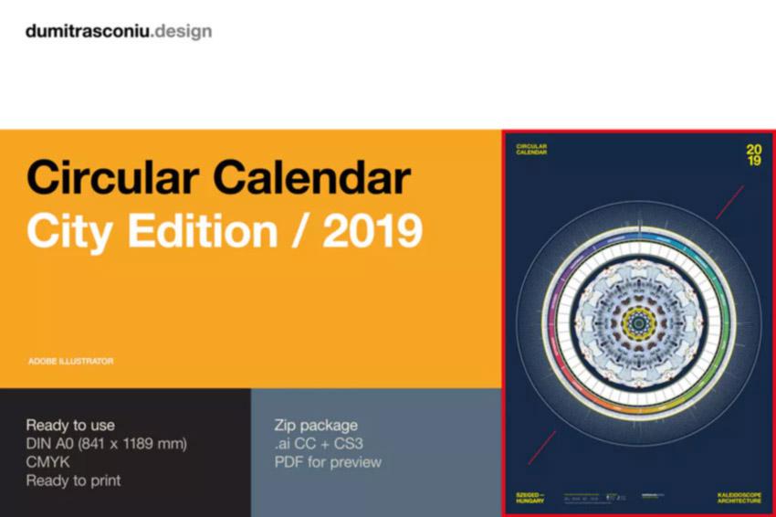 Circular Calendar Design