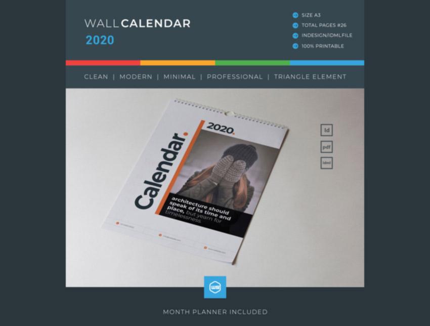 InDesign Calendar 2020