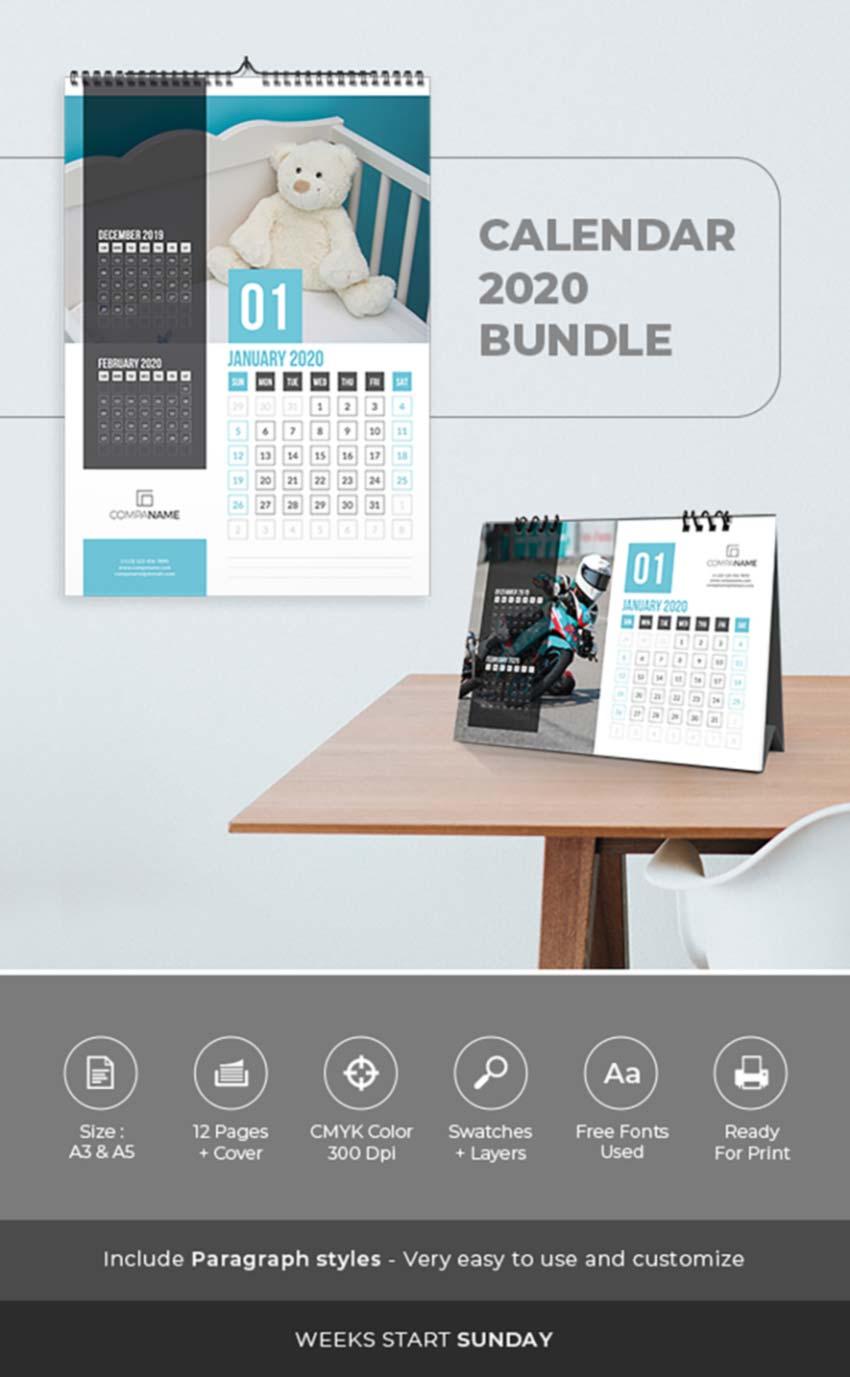 Calendar 2020 Bundle