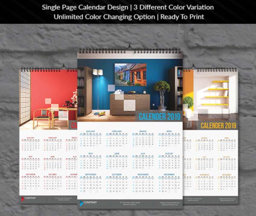 Wall Calendar InDesign