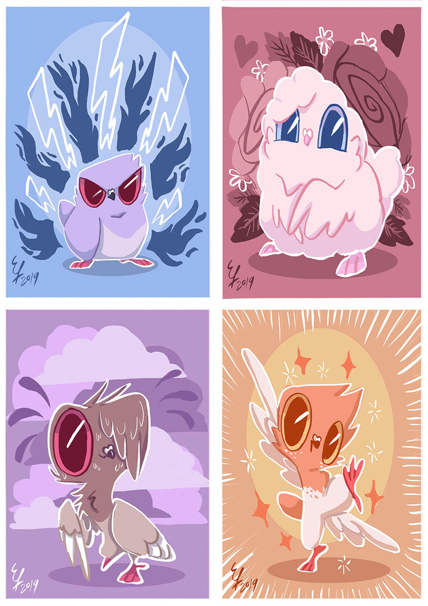 Character Prints by Moodypidge