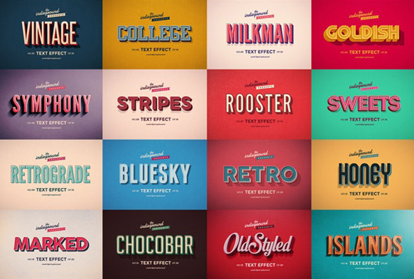 All in One Vintage Text Bundle