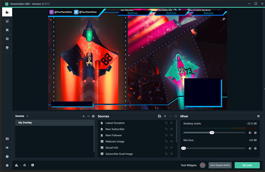 Adding Stream Labels to your Overlay