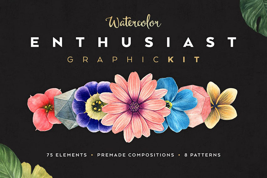 Watercolor Graphic Kit
