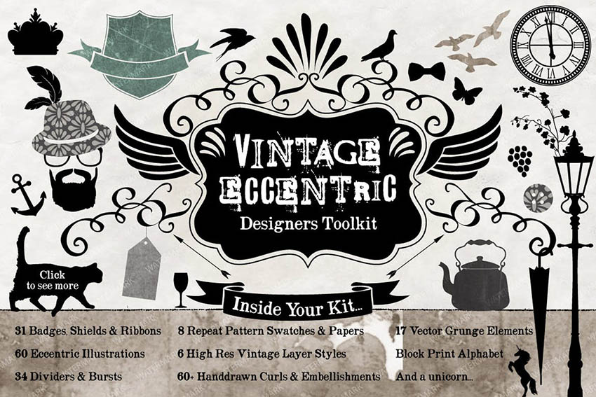 Vintage Design Scrapbooking Kit