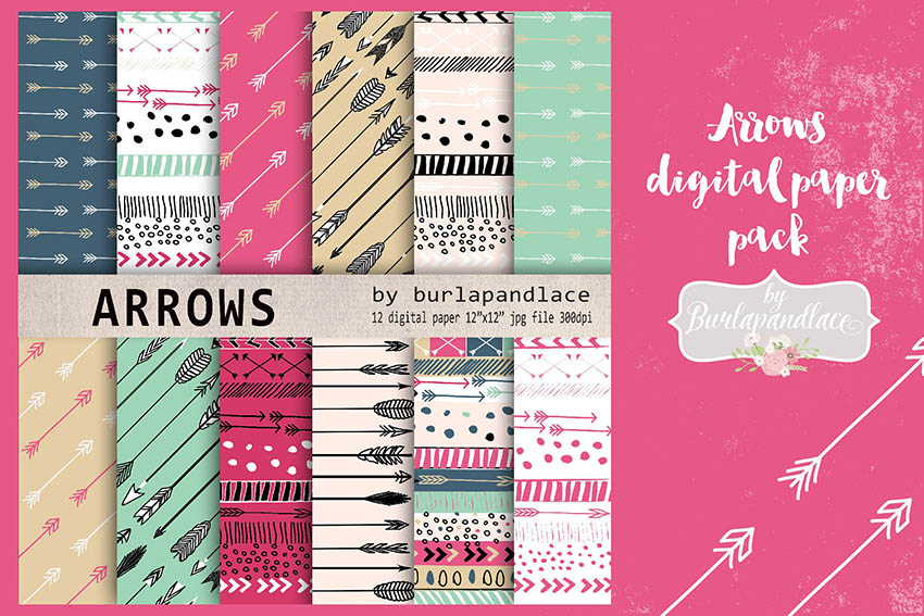Digital Paper Pack for Scrapbooking