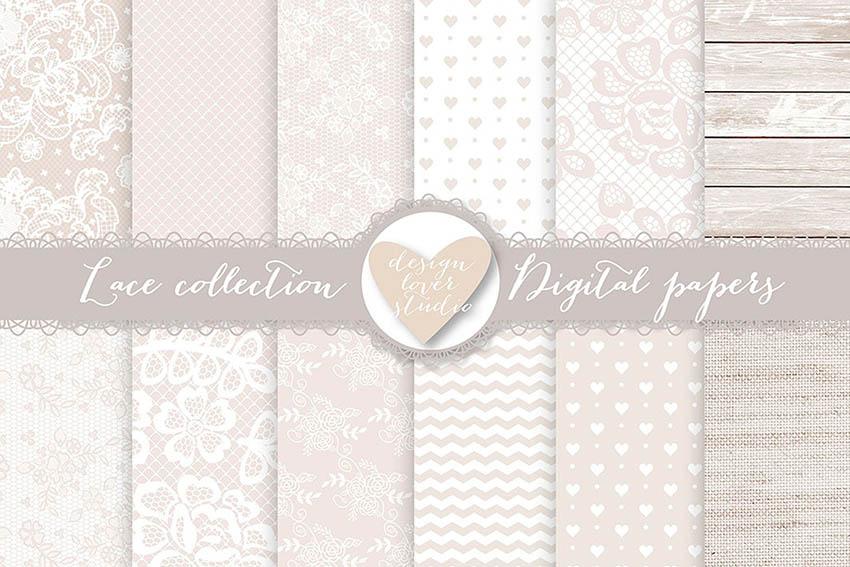 Lace Digital Scrapbooking Paper