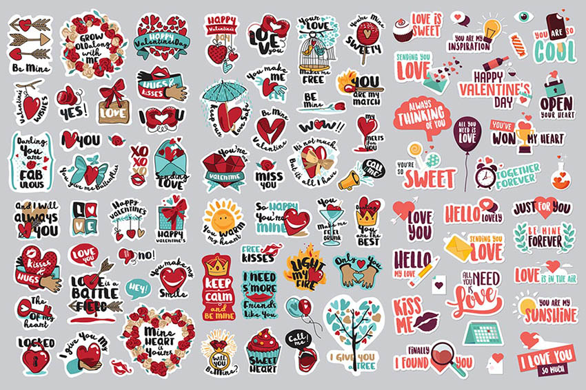 Love Digital Stickers