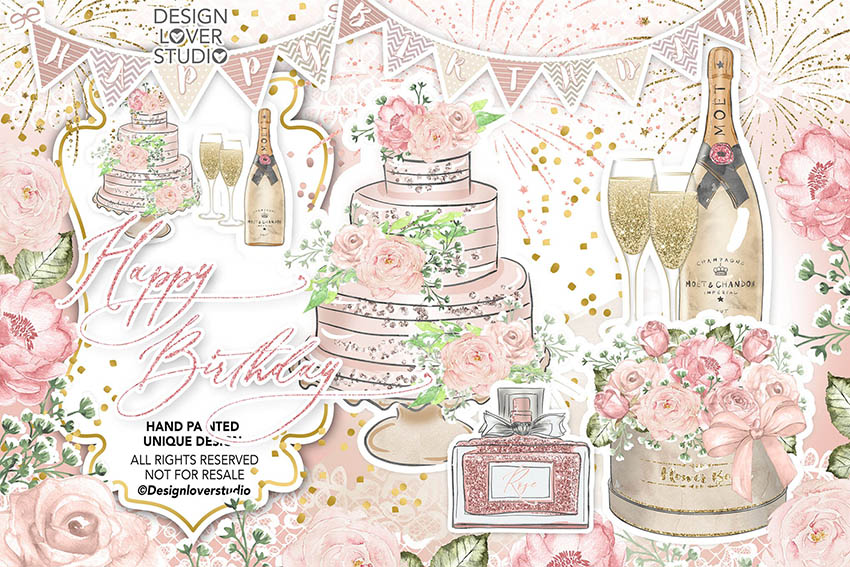 Birthday Digital Scrapbooking Kit