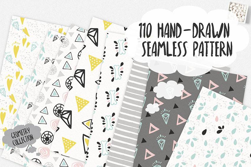 Seamless Scrapbooking Patterns