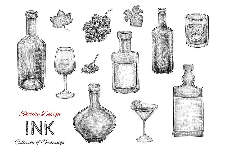 Bottles Set by Eugenia Hauss