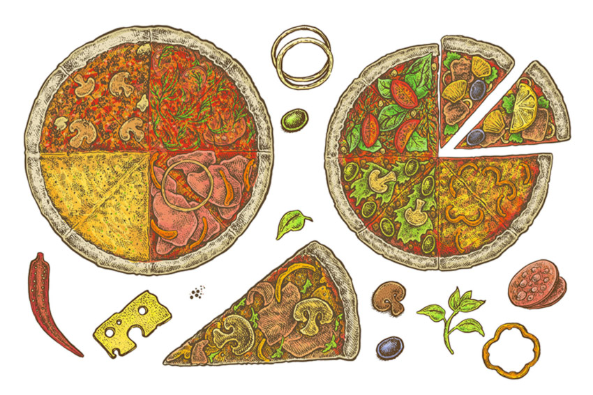 Pizza Set by Eugenia Hauss