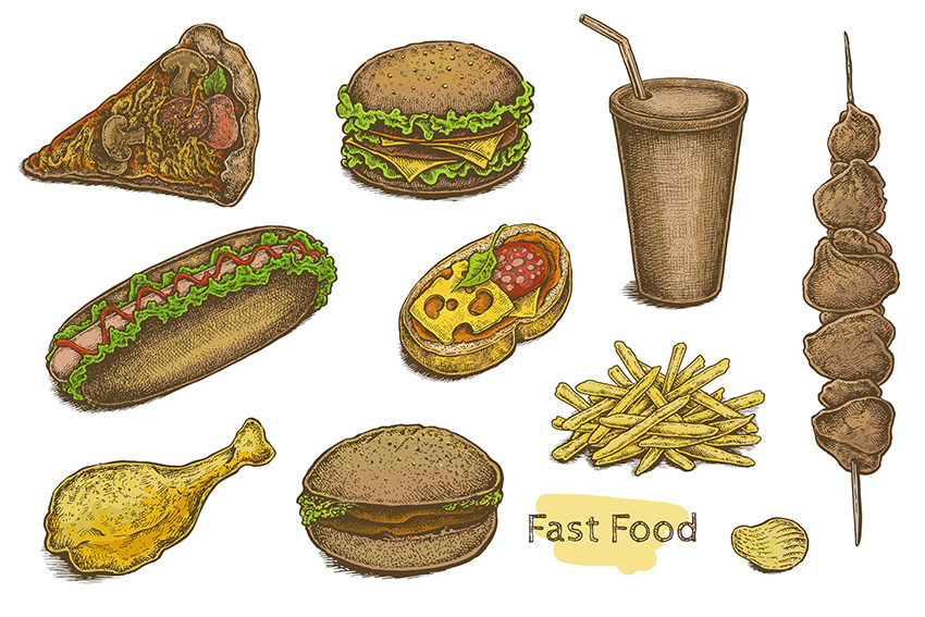 Fast Food Set by Eugenia Hauss