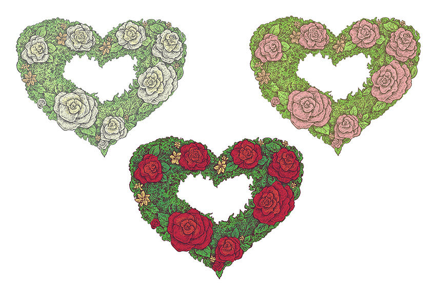 Vector Floral Frames by Eugenia Hauss