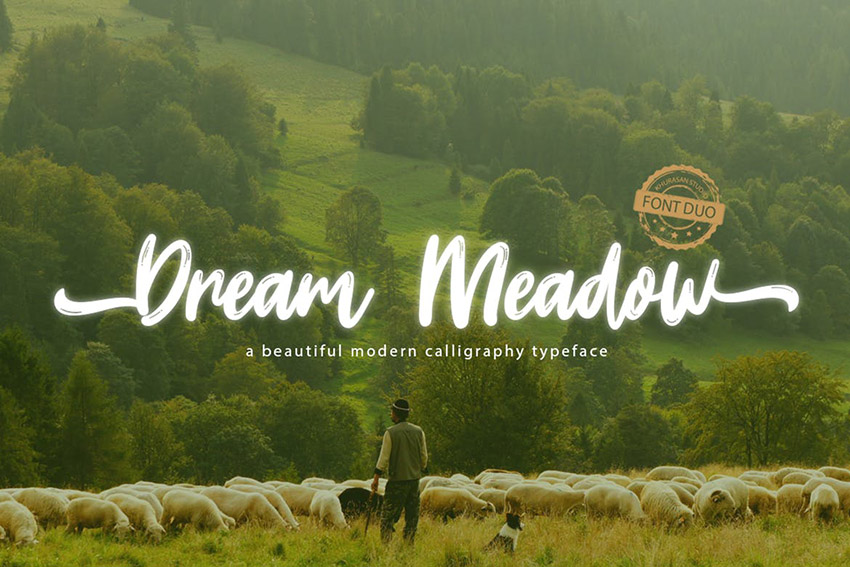 Dream Meadow Calligraphy Font
