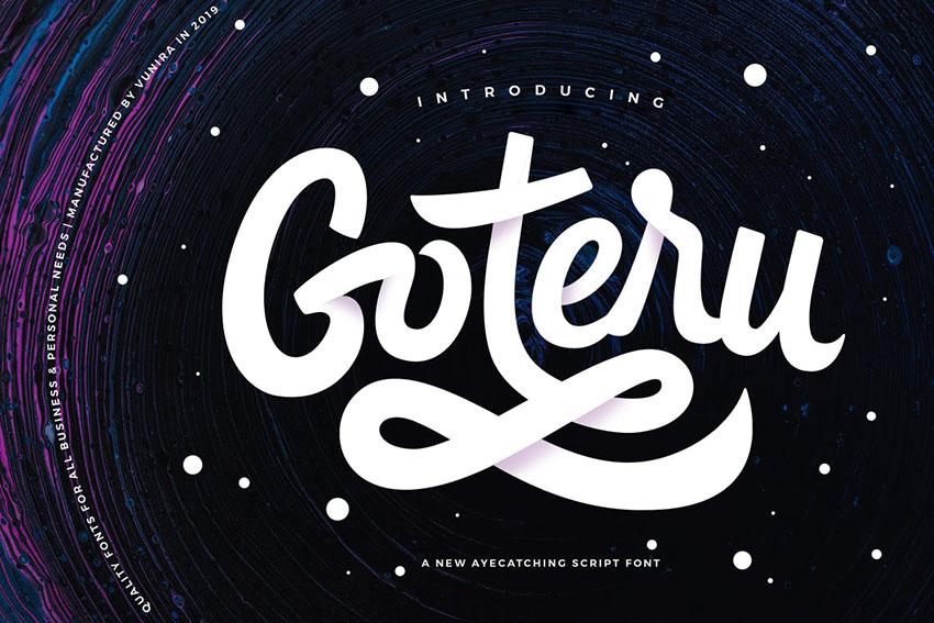 Goteru Eyecatching Script Font