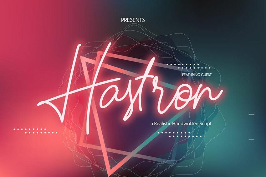 Hastron Font
